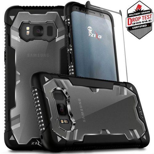 Zizo Proton Case Etui Pancerne Samsung Galaxy S8+ Plus (Black/Clear) + Szkło Hartowane Na Ekran