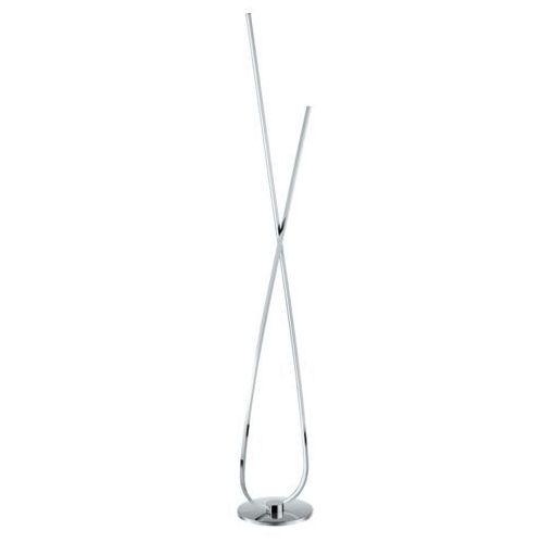 Eglo Lampa podłogowa selvina 96314 stojąca 1x28w led chrom/biały