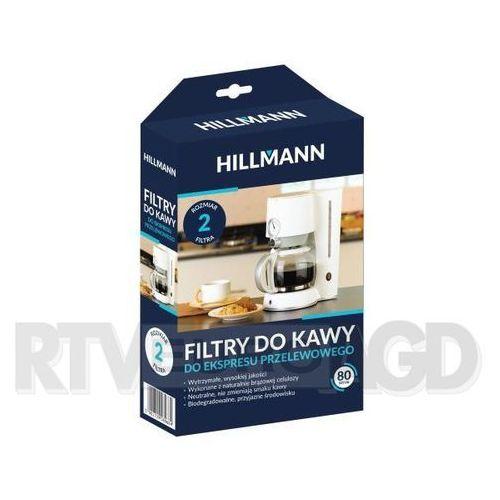 filtry do kawy 1x2 80 szt. marki Hillmann