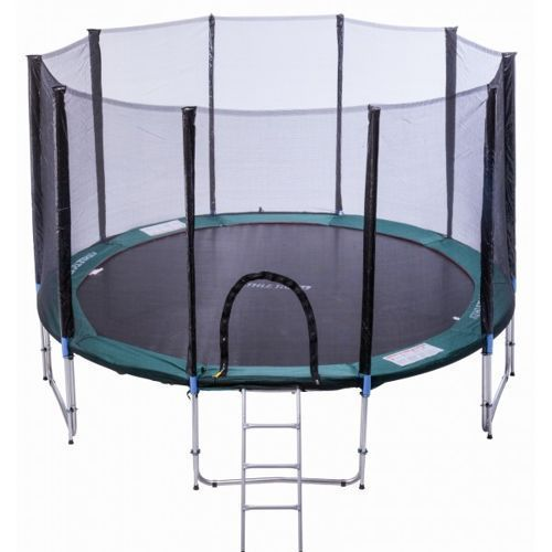 Athletic24 366 cm - trampolina ogrodowa z siatką zabezpieczającą + drabinka gratis!