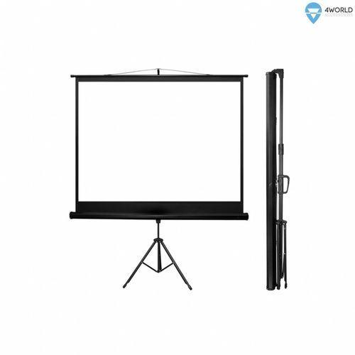 Ekran projekcyjny 4WORLD Matt White na statywie 170 x 127 cm