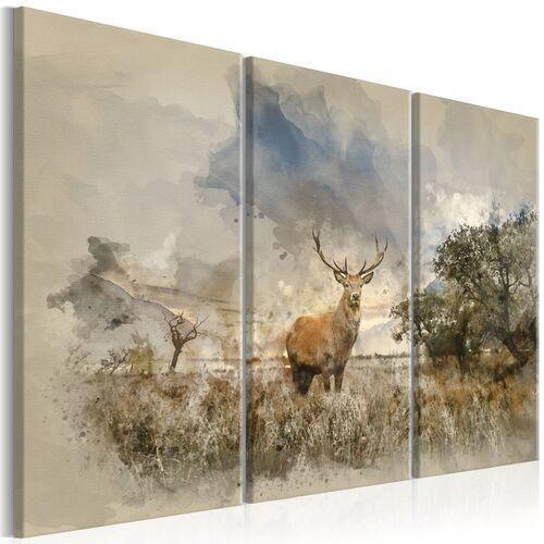 Obraz - jeleń na polu i marki Artgeist