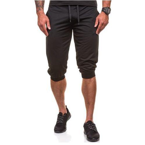 J.style Czarne krótkie spodenki dresowe męskie Denley 6011 - CZARNY, czarna
