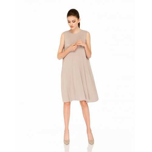 Sukienka su145 (kolor: beżowy, rozmiar: uniwersalny), Vzoor