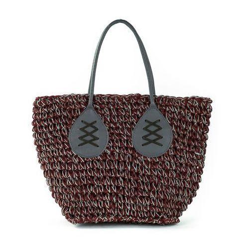 Koszyk plażowy dark maroon - MAROON, kolor czerwony