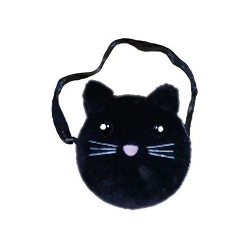 Starpak Torebka na ramię pluszowa czarny kot
