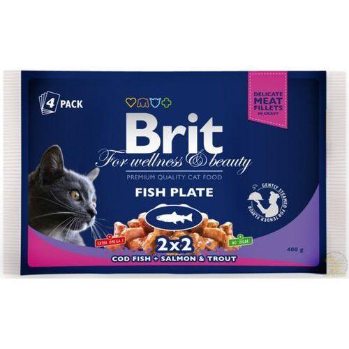 Brit Premium Cat Adult Fish Plate - Multipack saszetek rybnych dla kota 4x100g