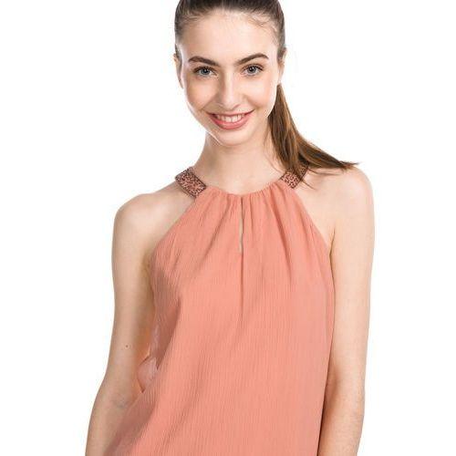 Vero Moda Beadi Top Różowy Beżowy XS (5713723983561)
