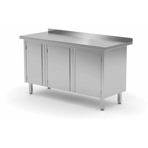Xxlselect Stół przyścienny szafka z drzwiami na zawiasach   szer: 1400 - 1500mm   gł: 700mm