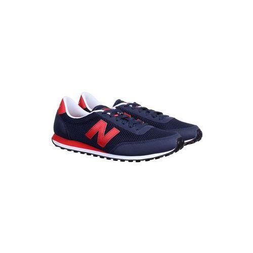Buty sportowe New Balance U410MNR Navy/Red, kolor niebieski