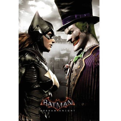 Batman Arkham Knight Batgirl i Joker - plakat
