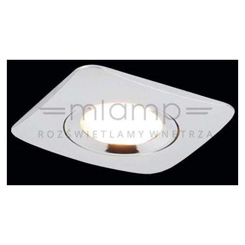 Orlicki design Oczko lampa sufitowa bello ip44 metalowa oprawa wpust kwadratowy chrom