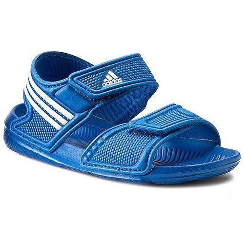 Adidas Sandały dziecięce  akwah 9 k (s74680) - niebieski