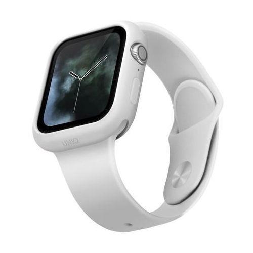UNIQ etui Lino Apple Watch Series 5/4 44MM biały/dove white - Biały, kolor biały