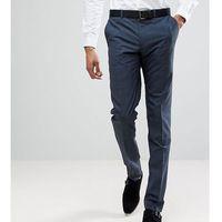 tall skinny smart trouser in check - navy, Heart & dagger