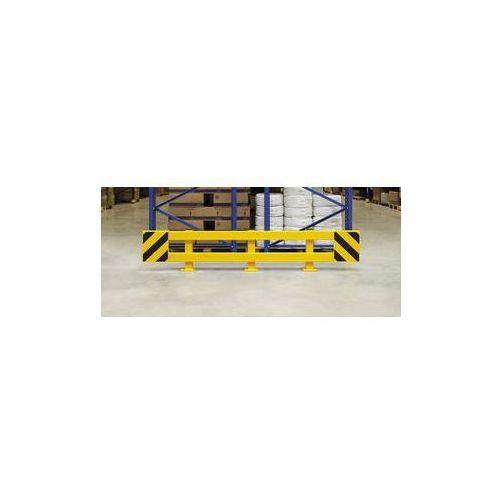 Zestaw barierek do ochrony regałów,do regału podwójnego, rozsuwane 2300 - 2700 mm