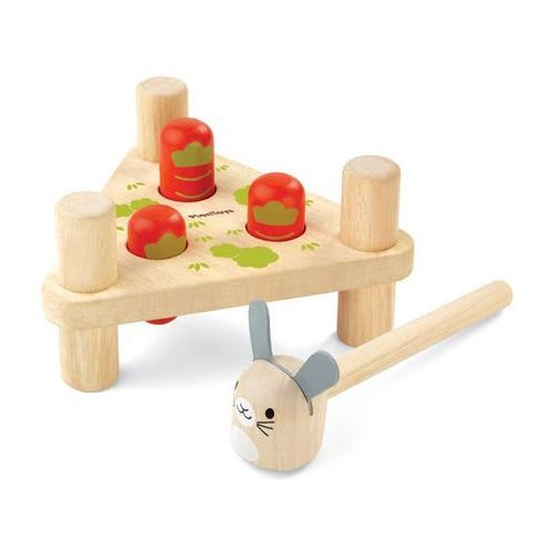 Przebijanka króliczki, zabawki drewniane - . darmowa dostawa do kiosku ruchu od 24,99zł marki Plan toys
