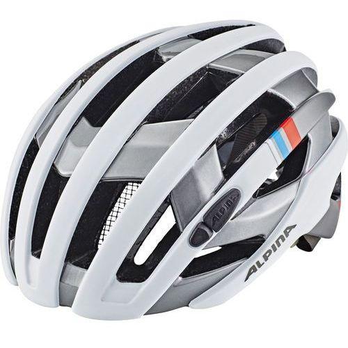 Alpina campiglio kask rowerowy biały/srebrny 57-61cm 2018 kaski rowerowe (4003692239341)