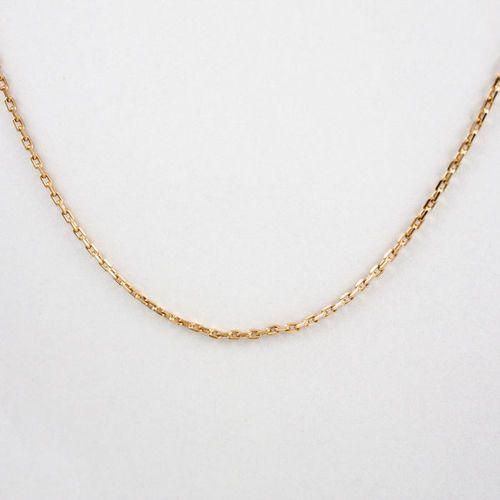Złoty łańcuszek L896, kolor żółty