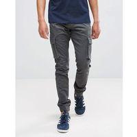 cargo trouser with cuffed hem - grey marki Only & sons