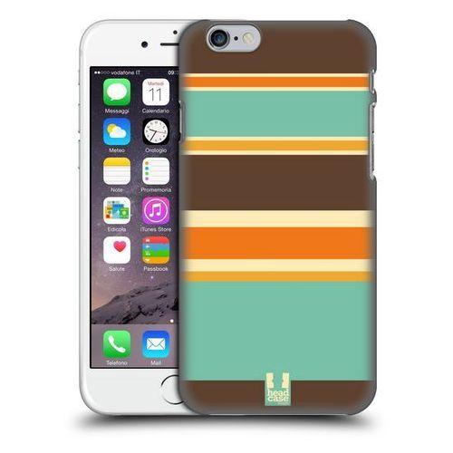 Etui plastikowe na telefon - Paski Brązowe i Pomarańczowe