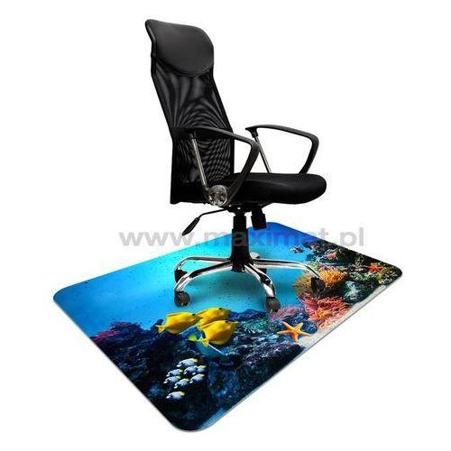 Mata ochronna pod krzesło na kółkach z nadrukiem 026 - 100x140cm - grubość. 1,3mm marki Maximat