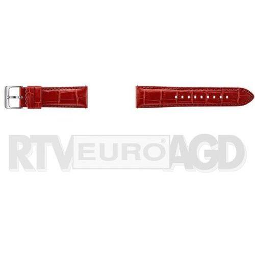 gear s3 alligator grain skórzany pasek et-ysa76mregww (czerwony), marki Samsung