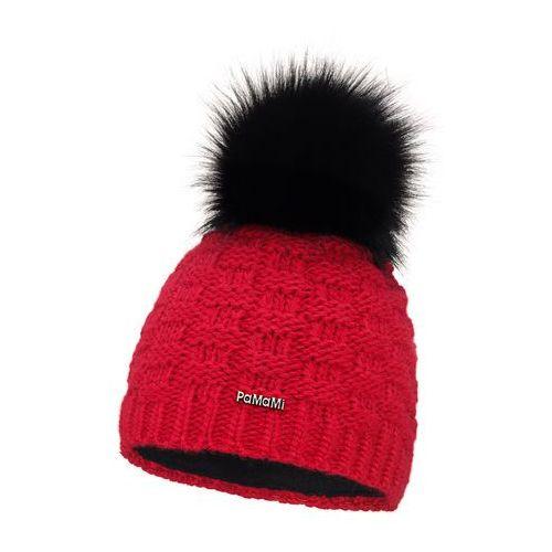 Zimowa czapka damska PaMaMi - Czerwony - Czerwony, kolor czerwony