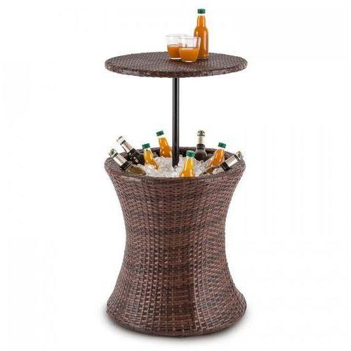beerboy stół ogrodowy chłodziarka na napoje Ø50cm polirattan bicolor brązowy marki Blumfeldt