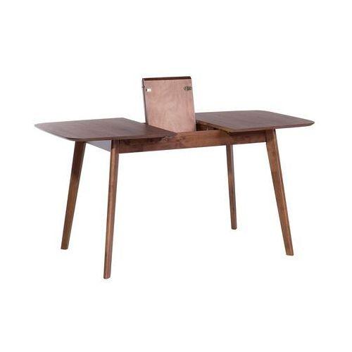 Beliani Stół brązowy - rozkładany - 120-150x75 cm - kuchenny - do jadalni - madox (7081451326768)