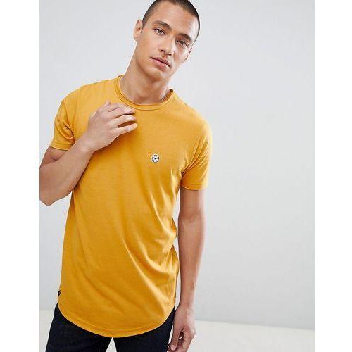 Le Breve Raw Edge Longline T-Shirt - Yellow, kolor żółty