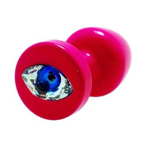 Diogol Plug analny ozdobny - anni r eye pink crystal 25 mm różowy (3760228972974)