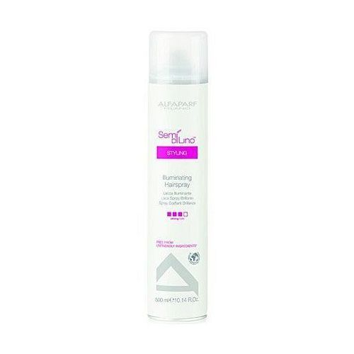 Alfaparf semi di lino diamente illuminating hairspray - lakier nabłyszczający 500 ml