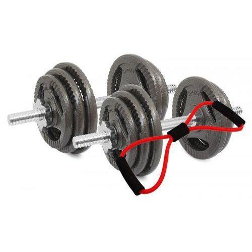 Hantle żeliwne kierownice zestaw 2x15 kg Tytan Sport 30 kg + Ekspander