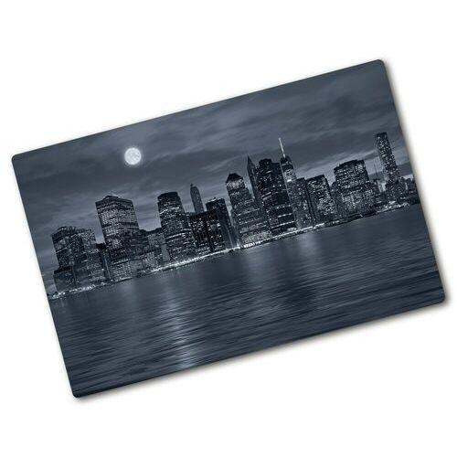Deska kuchenna szklana Nowy Jork nocą architektura
