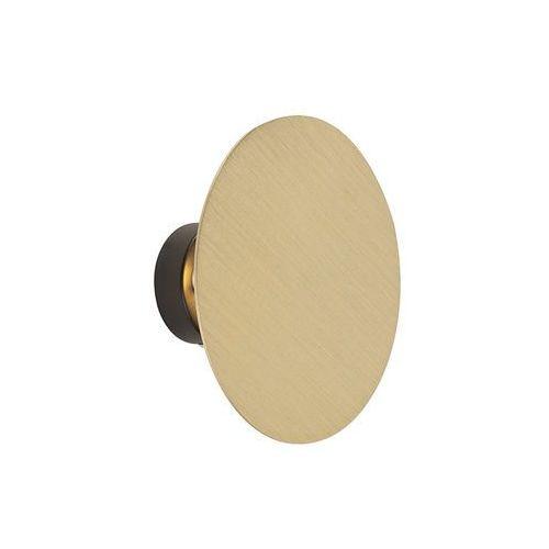 Design kinkiet okrągły złoty - koło pasowe