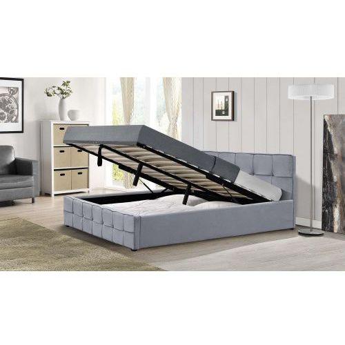 Łóżko z materacem tapicerowane 160x200 1294g welur popiel marki Meblemwm