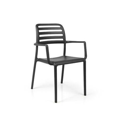 Krzesło costa z podłokietnikami czarne marki Nardi