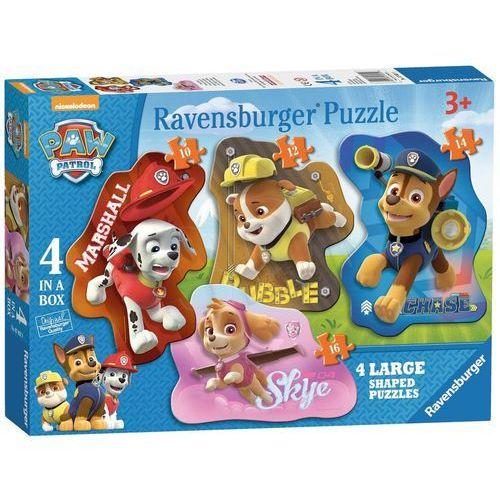 Ravensburger puzzle 4w1 psi patrol kształty - 4005556070329- natychmiastowa wysyłka, ponad 4000 punktów odbioru!