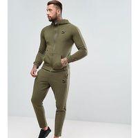 Puma Skinny Fit Tracksuit Set In Khaki Exclusive to ASOS - Green, kolor zielony