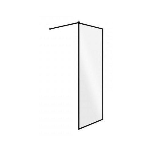 Besco Ścianka prysznicowa czarny profil walk in toca 90 cm (5907483471080)