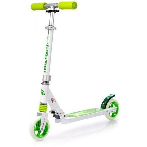 Regulowana Hulajnoga do 100kg METEOR RACER - Zielona - Zielony ||Biały