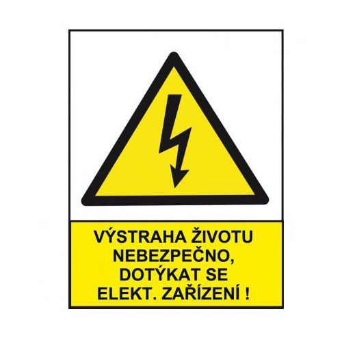 Ostrzeżenie o niebezpieczeństwie dla życia przy dotykaniu urządzeń elektrzycznych