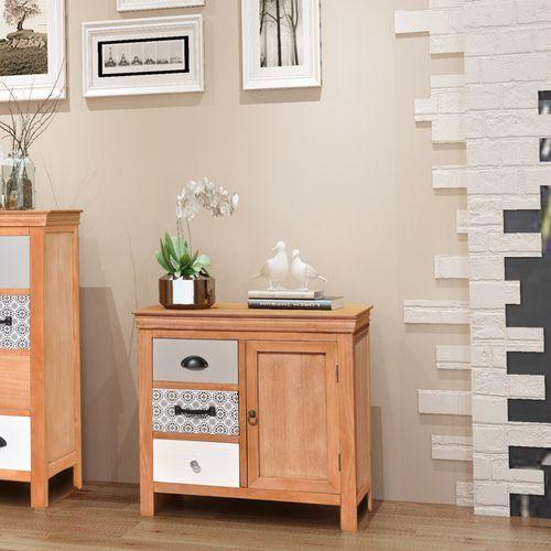 Vidaxl  szafka z szufladami 65x35x60 cm lite drewno (8718475974604)
