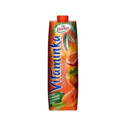 1l vitaminka & superfruits mango marakuja marchewka jabłko sok marki Hortex