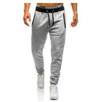 Spodnie dresowe joggery męskie szare denley ak13, J.style