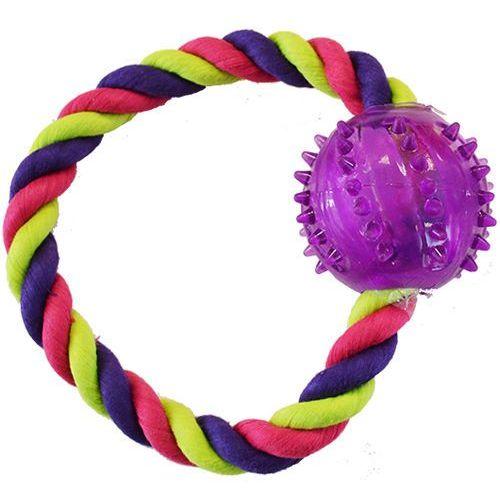 Wytrzymałe plecione ringo z piłką dla psa - seria Out&About