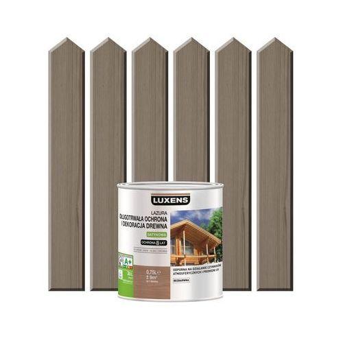 Luxens Lazura do drewna długotrwała ochrona i dekoracja drewna 0,75 lszary beton