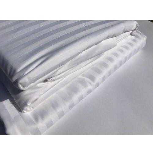 Komplet Pościeli Hotelowej 160x200 cm+ poszewka OPTIMAL deseń 1cm biel 100% Bawełny (1), BB9E-55973_20210215113919
