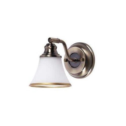 Rabalux Kinkiet lampa oprawa grando 1x40w e14 mosiądz/biały 6545